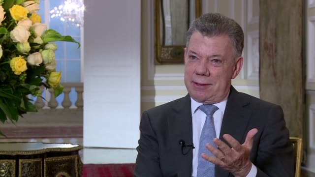 colombian president juan manuel santos says he expects the fall of nicolas maduro's regime in venezuela shortly adding it is very difficult to put... - juan manuel santos stock videos & royalty-free footage