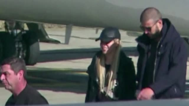 colombian singer shakira and barcelona player pique land in a private jet in the argentine city of rosario ahead of lionel messi's and antonella... - shakira stock videos and b-roll footage