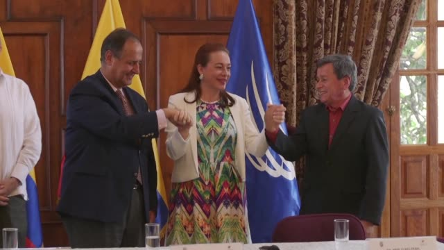 Colombia's government and the country's last active guerrilla group the ELN reached an agreement Monday for a temporary ceasefire between both...
