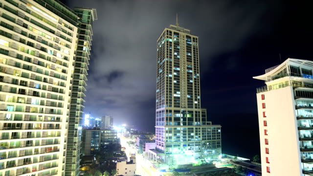 colombo, sri lanka 4k: night time lapse - sri lanka stock videos and b-roll footage