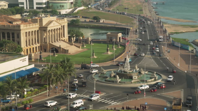 Colombo Sri Lanka iconic image old British colonial parliament high angle view
