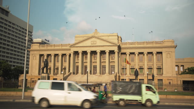 Colombo Sri Lanka iconic image old British colonial parliament