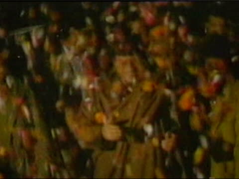 up close lib petals falling around gaddafi - muammar gaddafi stock videos & royalty-free footage
