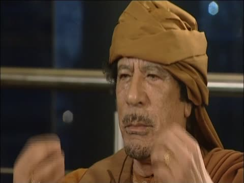 colonel gaddafi comments on the devotion of his people - dictator stock videos & royalty-free footage