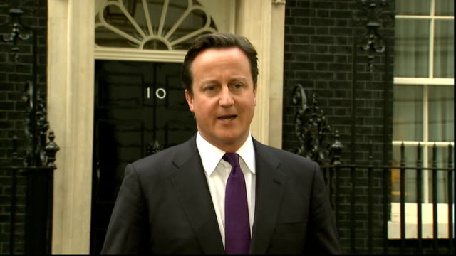 international reaction england london downing street david cameron mp press conference sot i think today is a day to remember all of colonel... - double chance stock videos & royalty-free footage