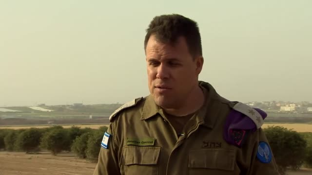 colonel jonathan conricus of the israeli defence forces saying hamas has played a part in making sure less palestinian protesters came towards the... - israeli military stock videos & royalty-free footage
