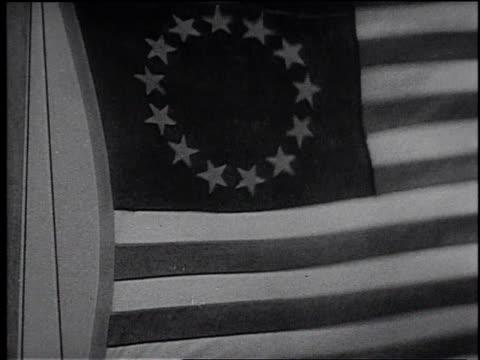 cu colonial american flag with thirteen stars / united states - フランク キャプラ点の映像素材/bロール