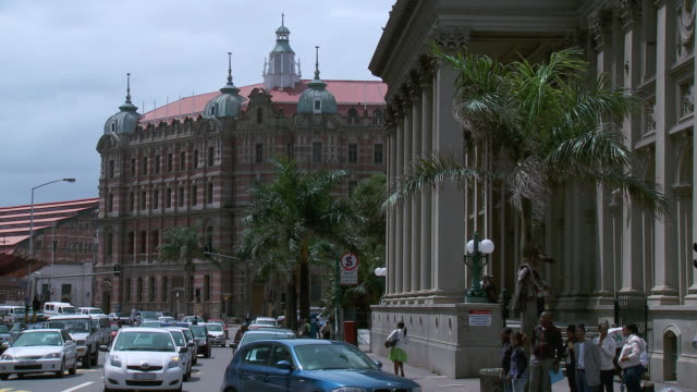 ws colonial buildings in durban city center / durban, south africa - durban stock videos and b-roll footage