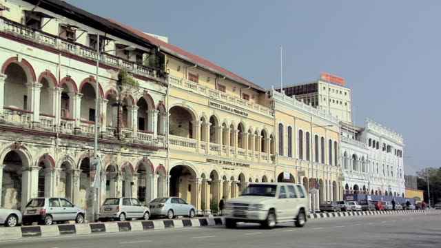 ws colonial buildings on penkalang weld / george town, penang, malaysia - penang stock videos and b-roll footage