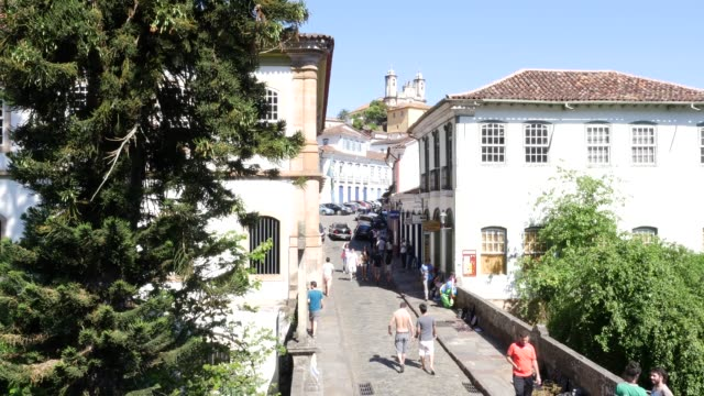 colonial houses in ouro preto, minas gerais, brazil - colonial stock videos & royalty-free footage