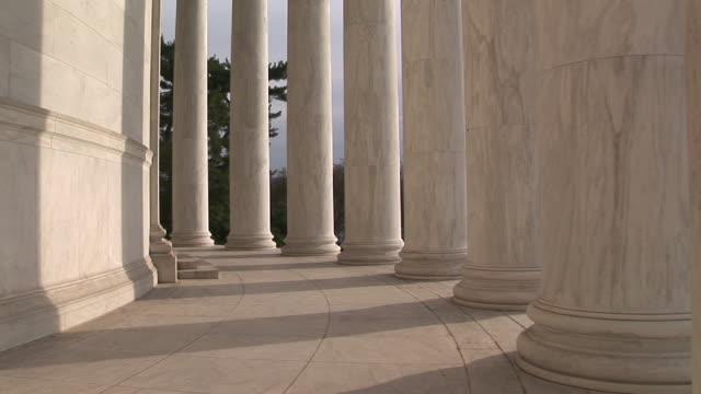MS, TU, Colonnade in Jefferson Memorial, Washington DC, Washington, USA