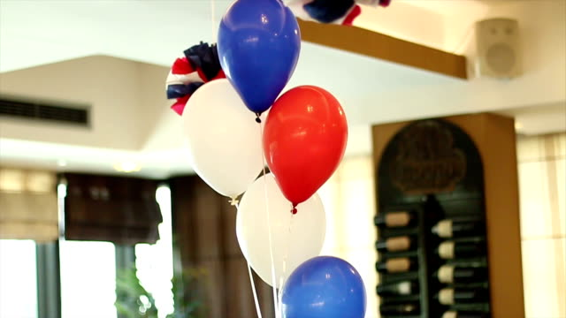 color balloons - helium stock videos & royalty-free footage