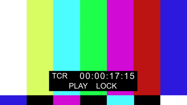 TV Color bar with timecode