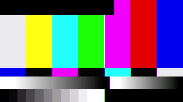 tv color bars distorted - video jockey stock videos & royalty-free footage