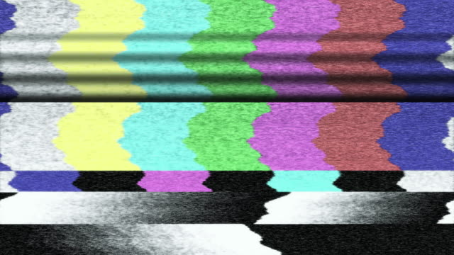 tv color bars malfunction (loop). - television static stock videos and b-roll footage