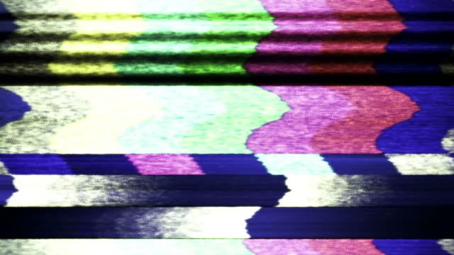 tv color bars malfunction (loop). - test pattern stock videos & royalty-free footage