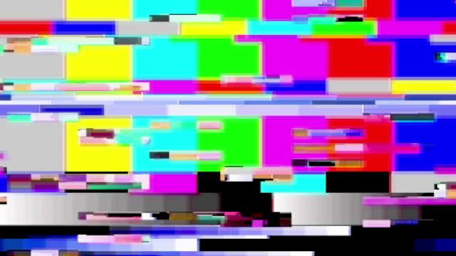 tv color bars malfunction - kommunikationsproblem bildbanksvideor och videomaterial från bakom kulisserna
