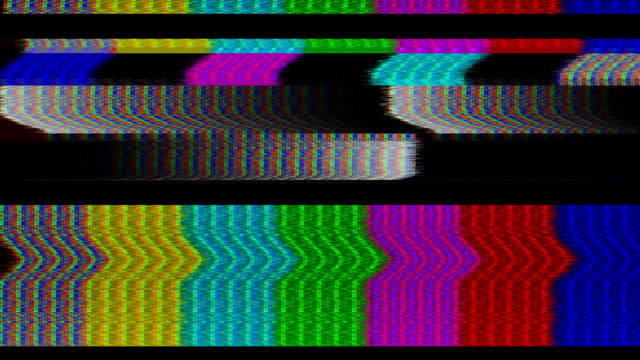 tv color bars malfunction - television static stock videos and b-roll footage