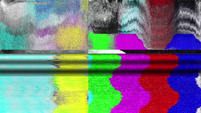 tv color bars test card malfunction - device screen stock videos & royalty-free footage