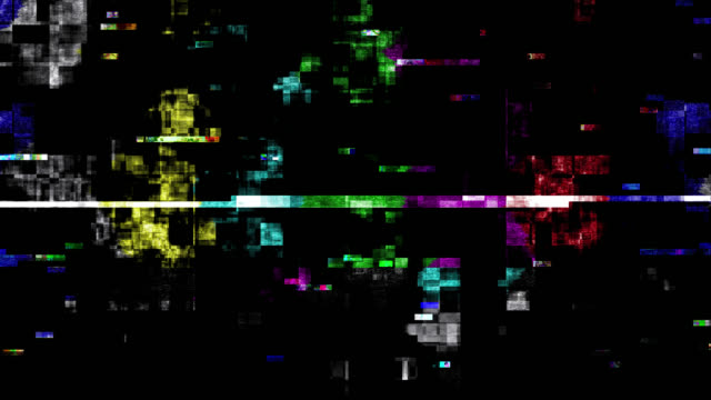 TV color bars test card malfunction (Loop).