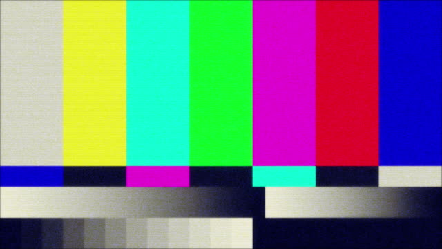 tv color bars test screen - television set stock videos & royalty-free footage