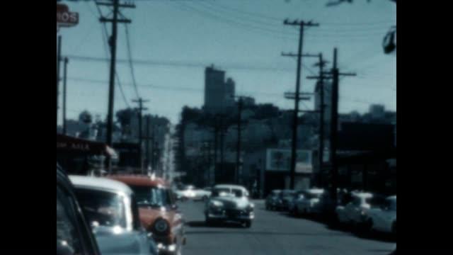 stockvideo's en b-roll-footage met color home movie of san francisco in 1940 - fisherman's wharf san francisco