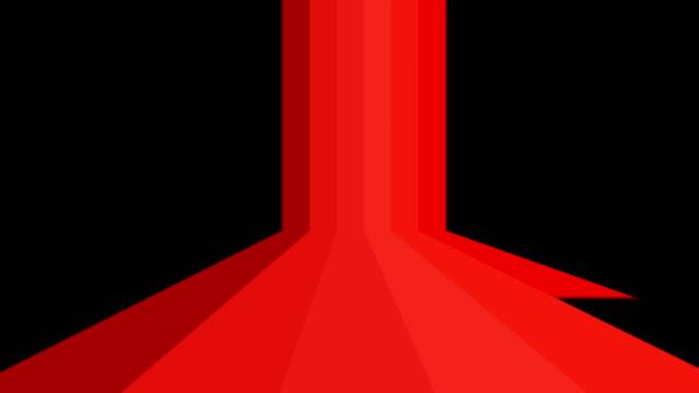 カラーライン アルファマットチャンネルで遷移 - ロゴマーク点の映像素材/bロール
