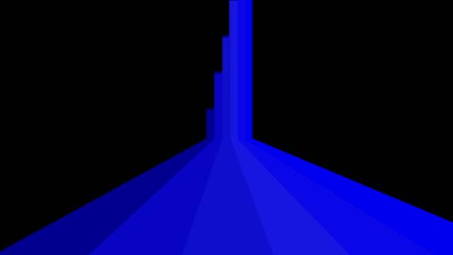 帶 alpha 遮罩通道的彩色線過渡 - 平坦的 物體描述 個影片檔及 b 捲影像