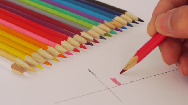 color pencil - colored pencil stock videos and b-roll footage