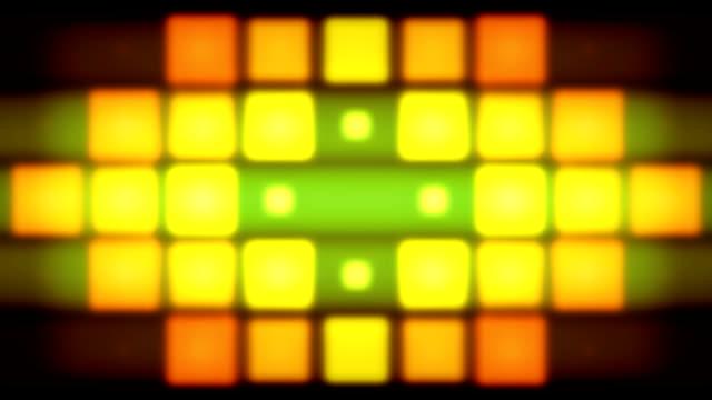 vídeos y material grabado en eventos de stock de luces de color píxeles - cuadrado forma bidimensional