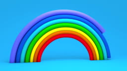 Color Rainbow, rainbow messages of hope  with Gradient Mesh, animation with alpha mask 4k