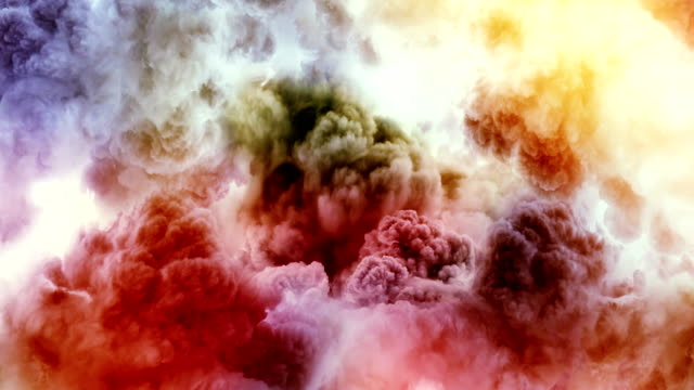 color smoke - temporale video stock e b–roll