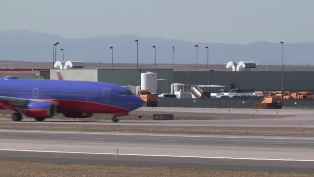 Colorado Air National Guard F16 D lands at Denver International Airport in preparation for temporary operations while Buckley AFB receives runway...