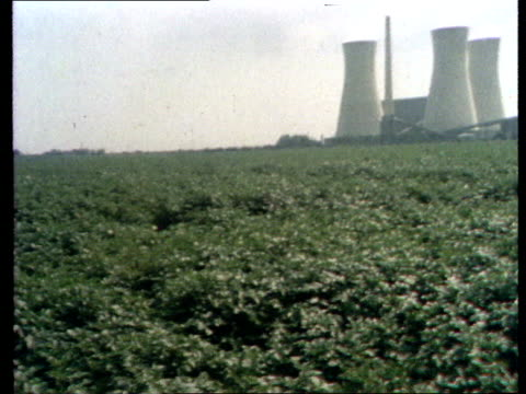 ebbets field near ramsgate *ms pan potato field next to richard power station *ms pan field rl *ms pan spray plane rl bv ditto rl copyright... - イングランド ケント点の映像素材/bロール