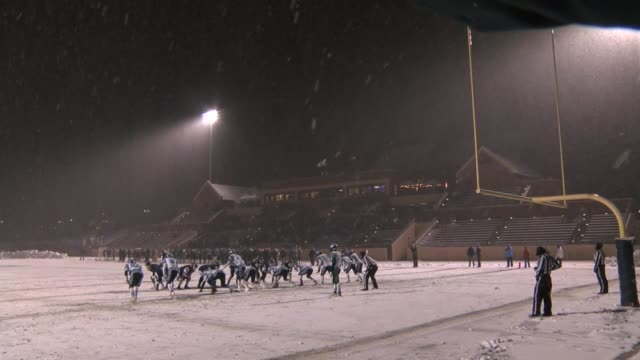 Colorado high school football playoff game between Ralston Valley and Valor Christian was played in a snowstorm that never let up