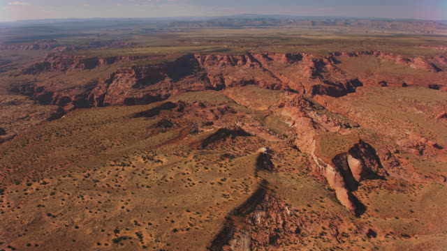 aerial colorado plateau and the grand canyon in usa - colorado plateau stock videos & royalty-free footage