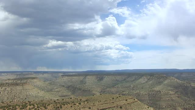 ws aerial colorado plateau en route from desolation canyon to buffalo / utah, united states - colorado plateau stock videos & royalty-free footage