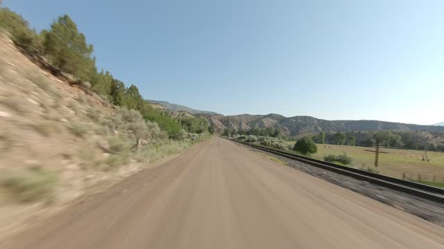 colorado river 4 synced series rear summer driving - number 4 stock videos & royalty-free footage