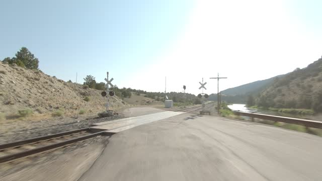 colorado river 6 synced series rear summer driving - number 6 stock videos & royalty-free footage