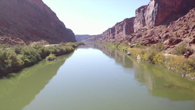 colorado river aerial - western usa stock videos & royalty-free footage