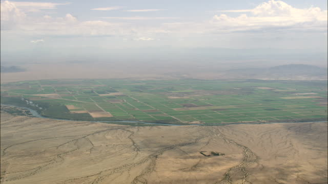 colorado river and border with arizona  - aerial view - california, san bernardino county, united states - river colorado stock videos & royalty-free footage