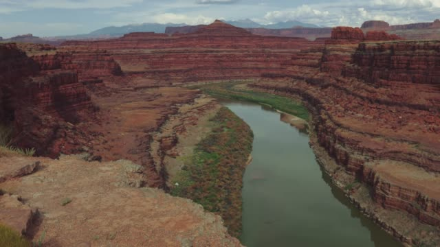 colorado river and plateau near moab - arches national park stock videos & royalty-free footage