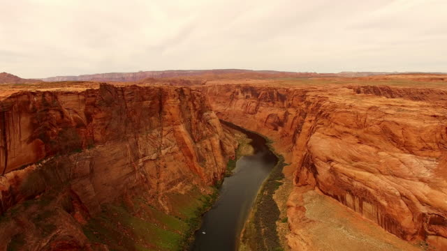 aerial colorado river flowing through the canyon - river colorado stock videos & royalty-free footage