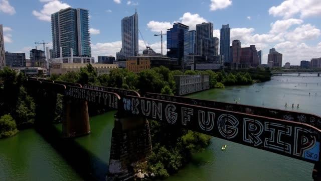 colorado river in austin, texas - austin texas stock videos & royalty-free footage