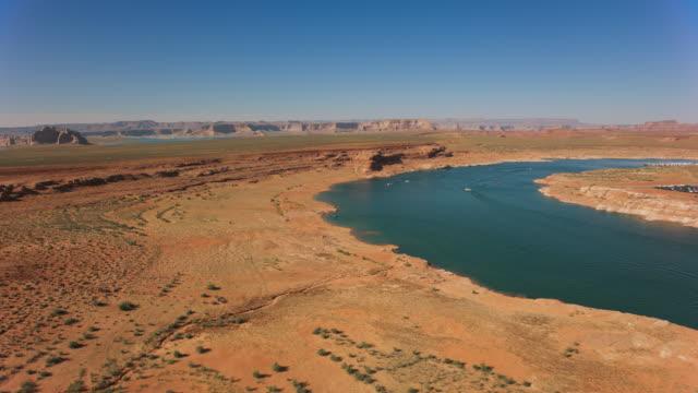 aerial colorado river in sunshine - colorado plateau stock videos & royalty-free footage