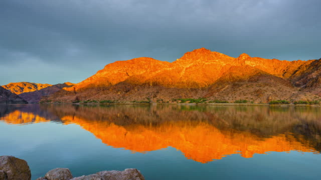 colorado river in the morning - red rocks stock videos and b-roll footage