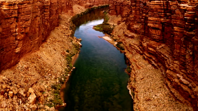 colorado river. view from navajo bridge. - river colorado stock videos & royalty-free footage