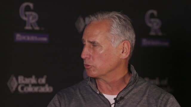 colorado rockies manager bud black gives his take on whether the team is poised to make a run at the playoffs in 2017. - playoffs stock videos & royalty-free footage
