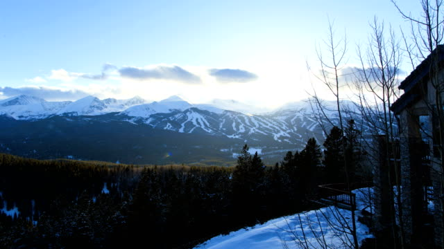 Colorado Rockies vacation resort mountain travel time lapse