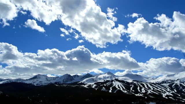 stockvideo's en b-roll-footage met colorado rockies winter vacation mountain snow time lapse - skivakantie